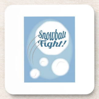 Snowball Fight Drink Coasters