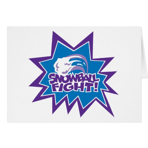 Snowball Fight! Greeting Card