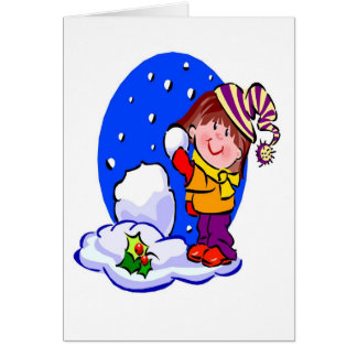Snowball Fight - Greeting Card