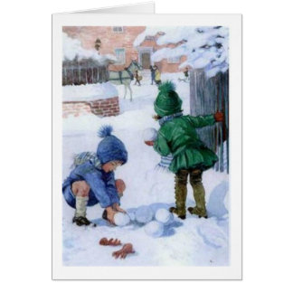 Snowball Fight in the Neighborhood, Card