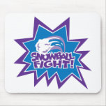 Snowball Fight! Mousepads