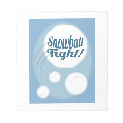 Snowball Fight Note Pad