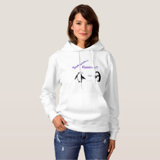 Snowball Fight Penguins Ladies Hoodie