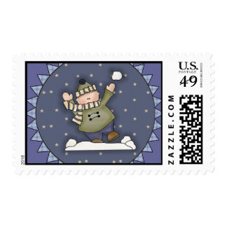Snowball Fight Stamps