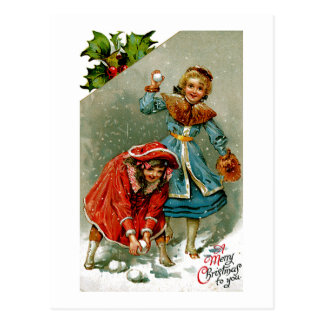 Snowball Fight Post Cards