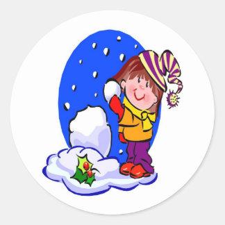 Snowball Fight - Sticker