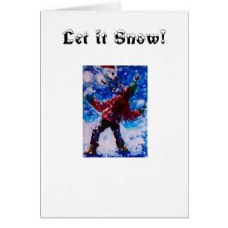 Snowball Fight with Snow People, Let it Snow! Card