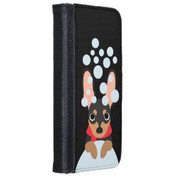 iPhone 6 Wallet Case with Doberman Pinscher Phone Cases design