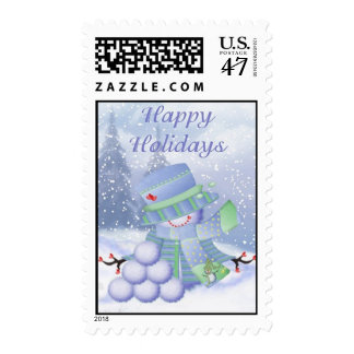 Snowball Snowman Postage