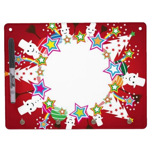 Snowball, Snowmen, and Trees Dry Erase Whiteboards