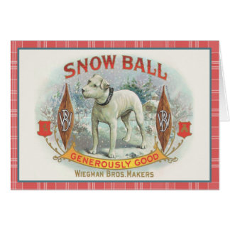 Snowball the Dog Greeting Cards