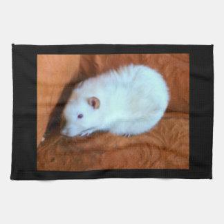 Snowball White Rat Kitchen Towel
