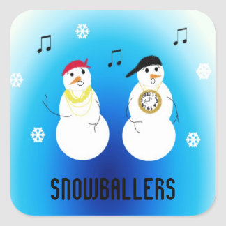 Snowballers - Rapping Snowmen Square Sticker