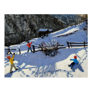 Snowballers Zermatt Postcard