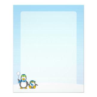 Snowballing penguins flyer