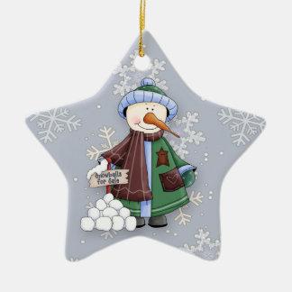 Snowballs for Sale Ceramic Ornament