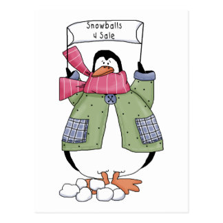 Snowballs for Sale Penguin Tees and Gifts Postcard