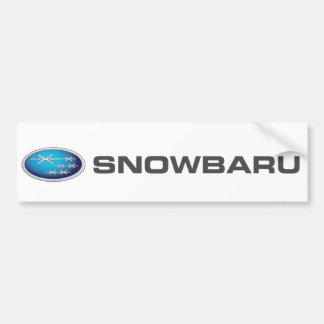 Snowbaru (blue gradient) Bumper Sticker - SUBARU Car Bumper Sticker