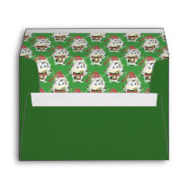 Snowbell the cow - Be Merry , Christmas envelope