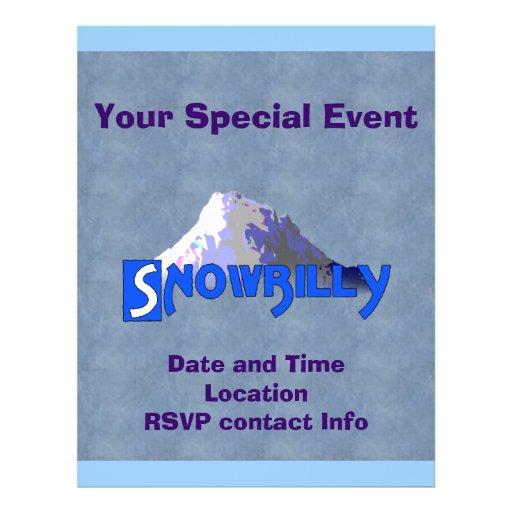 Snowbilly Custom Flyer