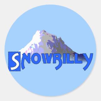 Snowbilly Round Stickers