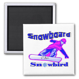 Snowbird de la snowboard imanes para frigoríficos