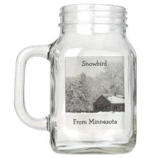 Snowbird Mason Jar