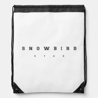 Snowbird Utah Drawstring Backpack