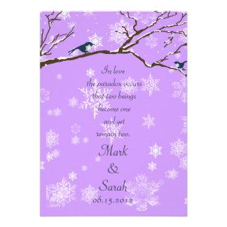 Snowbirds 2 Lavander Invitation