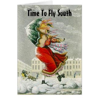SNOWBIRDS ANNOUNCEMENT NOTE WINTER ADDRESS CARDS!