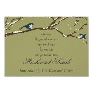 Snowbirds Eucalyptus Invitation