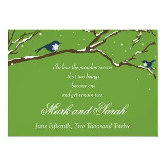 Snowbirds Green Invitation