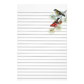 Snowbirds on Blue Lined Paper