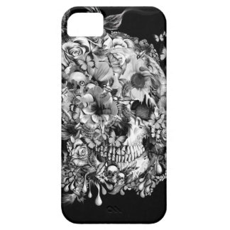 Snowbirds, skull made of birds and flowers iPhone 5/5S case
