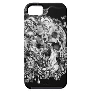 Snowbirds, skull made of birds and flowers iPhone 5/5S covers