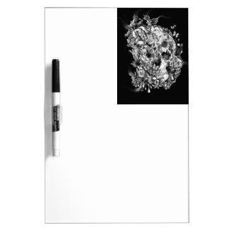 Snowbirds, skull made of birds and flowers dry erase board
