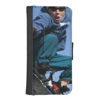 snowboard-25 funda cartera para teléfono