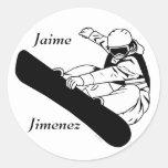 Snowboard 3 etiquetas redondas