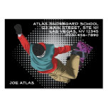 Snowboard 7 tarjetas de visita