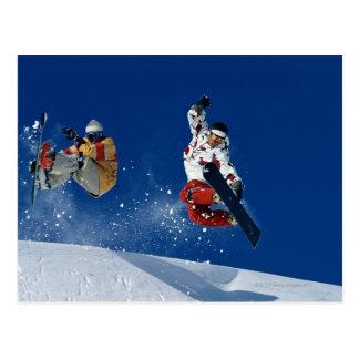 Snowboard 8 tarjeta postal