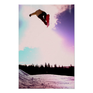 Snowboard Air Poster