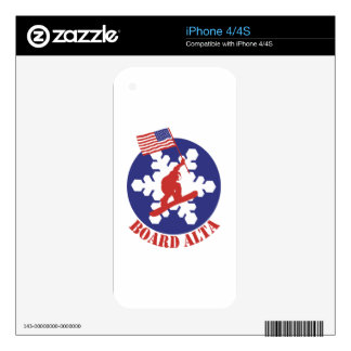 Snowboard Alta iPhone 4S Decals