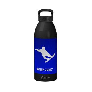 Snowboard azul botella de agua