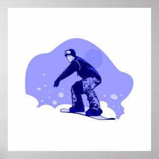 Snowboard azul impresiones