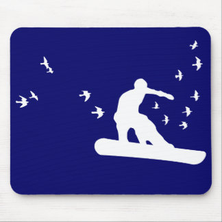 snowboard. board with birds. mouse pad