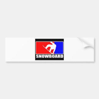 snowboard bumper sticker