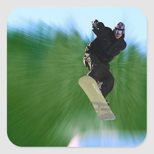 Snowboard Calcomanías Cuadradass