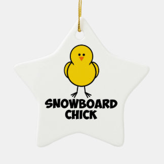 Snowboard Chick Christmas Ornaments