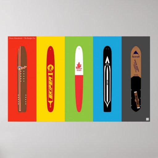 Snowboard clásicas - la era de Snurfer Poster