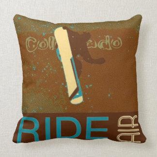 Snowboard Colorado Pillow